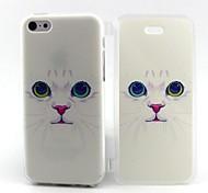 небольшой белый узор кошка ТПУ полный случай тела с для iPhone 5с