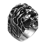 Men's Knuckle Ring Jewelry Punk Personalized Stainless Steel Alloy Geometric Lion Jewelry For Halloween Street