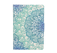 Datura Flower Pattern PU Leather Case with Screen Protector and Stylus for iPad mini 1/2/3