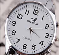 cheap -Men's Wrist watch Quartz Alloy Band Black White Blue Silver