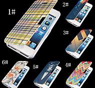 herrlich bunte PU-Leder Ganzkörper-Case für iPhone 4 / 4S (Farbe sortiert)