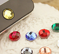 cheap -Resin Home Button Sticker for iPhone 8 7 Samsung Galaxy S8 S7(Random Color)