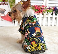 Dog Denim Jacket/Jeans Jacket Dog Clothes Fashion Jeans Dark Blue Light Blue Costume For Pets