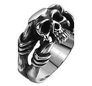 Ring Stainless Steel Titanium Steel Skull / Skeleton Silver Jewelry Halloween Daily Casual Sports 1pc