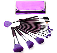 Professional 12pcs Makeup Brushes Set Make-up Kit Brush Set Foundation Power Eyeliner Brushes Purple Color