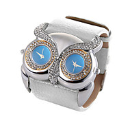 cheap -Animal Shape Clock Double Movement Watches High Quality Owl Watch Women Rhinestone Hours(Assorted Colors)