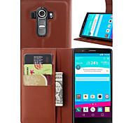 Недорогие -Кейс для Назначение LG L90 LG G3 Mini LG G3 Другое LG LG G4 Кейс для LG Бумажник для карт Кошелек со стендом Флип Чехол Сплошной цвет