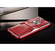 Недорогие -круто специальная конструкция решеткой шт + алюминий металл бампер кадров чехол для Iphone 6 с подставкой