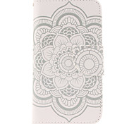 Magic Spider®White Flowers Pattern Wallet PU Leather Full Body Case with Stand for Samsung Galaxy S5/S5 Mini