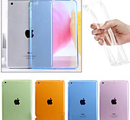 cheap -Case For Apple iPad Mini 4 iPad Mini 3/2/1 iPad 4/3/2 iPad Air 2 iPad Air Transparent Back Cover Solid Color Soft TPU for iPad Mini 4