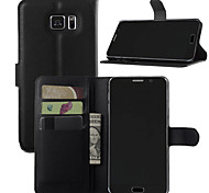 Недорогие -Кейс для Назначение SSamsung Galaxy Samsung Galaxy Note Бумажник для карт Кошелек со стендом Флип Чехол Сплошной цвет Кожа PU для Note 7