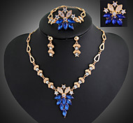 Women's Jewelry Set Drop Earrings Pendant Necklaces Statement Jewelry Vintage European Synthetic Gemstones Cubic Zirconia Jewelry
