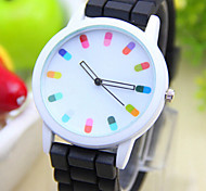Fashion Women Silicone Geneva Watch Candy Color Quartz Watch Women Dress Watch Relogio Feminino Cool Watches Unique Watches