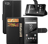 Elegant PU Leahter Wallet Holster Case Cover for Sony Xperia Z5 Compact (Assorted Colors)