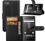 Элегантный leahter бумажник крышки случая кобуры пу для Sony Xperia Z5 компактных (разных цветов)