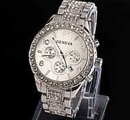 Geneva Bling Crystal Ladies Women Girl Strap Fashion Watch Imitation Diamond Stainless Steel Quartz Wrist Watch Cool Watches Unique Watches