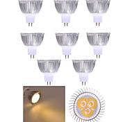 10шт mr16 привело прожектор mr16 3 высокой мощности привели 350lm теплый белый холодный белый декоративный dc12v