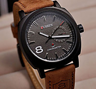 CURREN® Men Watches 8139 Dial Brown Leather Strap Business Clock Army Military Quartz Male Casual Men Women Watch Wrist Watch Cool Watch Unique Watch