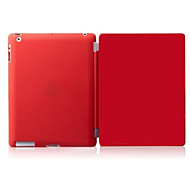 For iPad 2/iPad 4/iPad 3 compatible Solid Color PU Leather Wake Up Smart Case Cover s with Back Cases  mini 123 mini4
