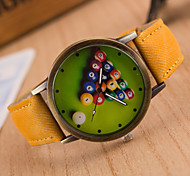 cheap -Men's Quartz Wrist Watch / Hot Sale Leather Band Vintage Casual Black White Blue Red Brown Green Grey Pink Yellow
