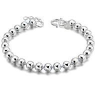 cheap -Women's Sterling Silver Ball Charm Bracelet Vintage Bracelet - Simple Silver Bracelet For Gift Daily Casual