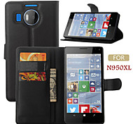 cheap -Case For Nokia Nokia Case Card Holder Wallet with Stand Full Body Cases Solid Color Hard PU Leather for