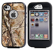 cheap -3in1 Hybrid Camouflage Camo Tree Print Dirtproof Hard Built-in Screen Protector Case For iPhone 4 4S