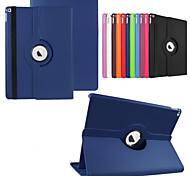 cheap -Case For with Stand Origami 360° Rotation Full Body Cases Solid Color PU Leather for iPad Pro 12.9''