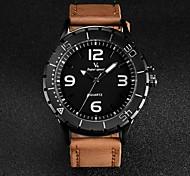 V6® Men's Fashion Design Leather Strap Quartz Casual Watch Cool Watch Unique Watch