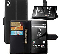 Fashion Leather Dirt-resistant Flip Wallet Cover Case For Sony Xperia Z5 Capa Phone Case
