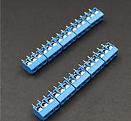 3 Pin 5.0mm Terminal Blocks Connectors - Blue (10-Piece)