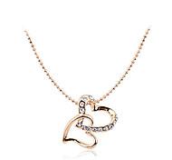 Недорогие -Корейский моды дрель двойной сердца кулон сплава ожерелье элегантный стиль