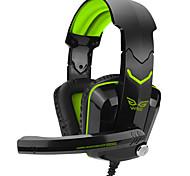 над-уха игра Gaming Headset светящиеся проводные наушники с микрофоном заставку игровой регулятор громкости с функцией шумоподавления