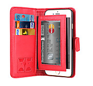 cheap -DE JI Magnetic 2 in 1 Luxury Leather Wallet Case Flip Cover+Cash Slot+Photo Frame Phone Case for iPhone 6/6S