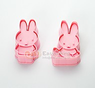 cheap -Cute Cartoon Animal 3D Biscuit Mold MIFFY Rabbit Cookie Cutters and Stamps
