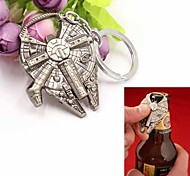 cheap -Fashion Spaceship Shape Stainless Steel Bottle Opener Key Chain