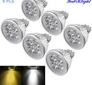 abordables -4W GU5.3(MR16) Focos LED MR16 4 leds LED de Alta Potencia Regulable Decorativa Blanco Cálido Blanco Fresco 320-350lm 3000/6000K DC 12V