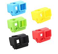 Недорогие -Гладкая Рамка защитный футляр Удобный Для Экшн камера Gopro 4 Black Gopro 4 Silver Gopro 4 Gopro 3+ Gopro 2 Силикон