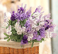 cheap -1 Branch Silk Plastic Lavender Tabletop Flower Artificial Flowers