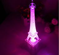 10 * 10 * 15 cm interruttore a pulsante romantico monocromatico luce colorata la lampada a led luce torre eiffel