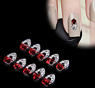 cheap -10 Nail Jewelry 3D Nail Stickers Classic Punk Daily Classic Punk High Quality