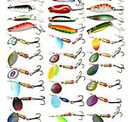 cheap -Anmuka Fishing Tackle 30Pcs Fishing Lure Metal Spoon Lures Mix Size Metal Lure Fishing Lure For Fishing Bait FreeShip