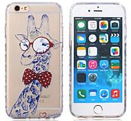 New Giraffe Pattern Waves Slip Handle TPU Soft Phone Case for iPhone 6 Plus/6S Plus
