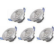 cheap -5pcs 3W 350 lm LED Recessed Lights 3 leds High Power LED Warm White Cold White AC 100-240V