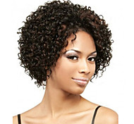 cheap -Synthetic Wig Curly African American Wig Brown Women's Capless Short Synthetic Hair