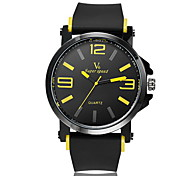 V6® Men's Fashion Design Rubber Strap Quartz Casual Watch Cool Watch Unique Watch