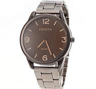 cheap -Men's Quartz Wrist Watch Casual Watch Stainless Steel Band Charm Silver