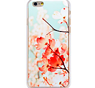 Pink Flower Pattern Transparent PC Back Cover for iPhone 6