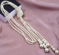 cheap -Women's Pearl Imitation Pearl Pearl Necklace Strands Necklace - Multi Layer Fashion Necklace For Wedding Party Daily Casual