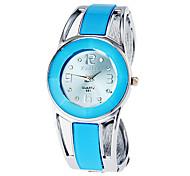 Damen Modeuhr Armband-Uhr Quartz Legierung Band Armreif Elegante Blau Blau
